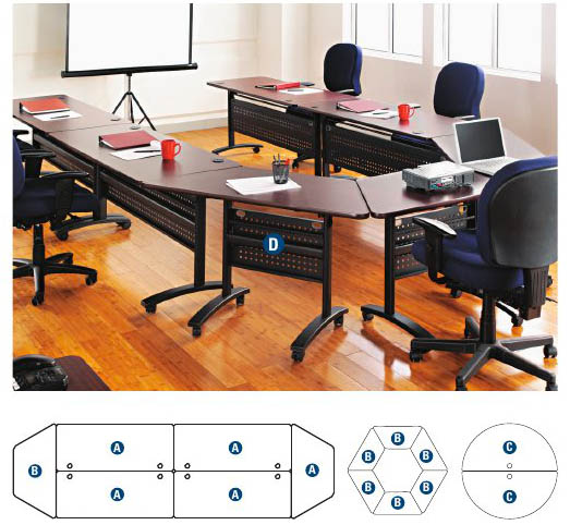 Beautiful Alera Valencia Series Training/Meeting Room Tables