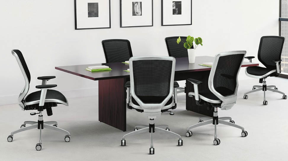 CDS Office Furniture - Hon boat shaped conference table