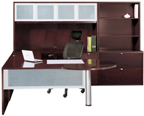 Cherryman Wood Veneer P Top Desk with Credenza  Hutch  Lateral Files  and  BookshelfCherryman Wood Veneer P Top Desk from Cherryman   New and Used  . Office Furniture San Diego Used. Home Design Ideas