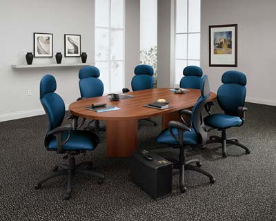 CDS Office Furniture - Hon racetrack conference table